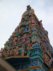 Hindu-Tempel_Singapore#1 - Weltreligionen, Südostasien, Hinduismus, Hindus, Tempel, Singapur, Sri Mariamman, Sehenswürdigkeit, Statuen, Gottheiten