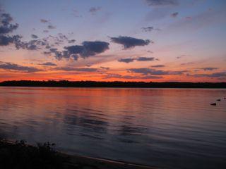 Sonnenuntergang an der Wolga#3 - Sonne, Sonnenuntergang, Russland, Wolga, Fluss, Abendstimmung, Himmel, Wasser, Landeskunde, Stimmung