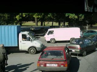 Straßenverkehr in Sankt Petersburg#1 - Sankt Petersburg, Russland, Transport, Straße, Verkehr, Auto, Verkehrsordnung, Landeskunde