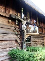 Kruzifix - Schwarzwald, Vogtsbauernhof, Bauernhof, Landwirtschaft, Gutach, Schwarzwaldhaus, Architektur, Berufe, Religion, Kruzifix, Bildstock