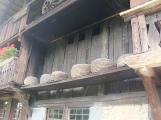 Bienenstock - Schwarzwald, Vogtsbauernhof, Bauernhof, Landwirtschaft, Gutach, Schwarzwaldhaus, Berufe, Bienen, Imker, Imkerei, Honig, Bienenkörbe