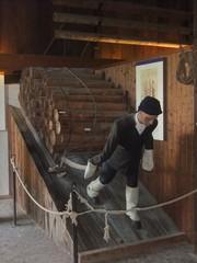 Holztransport - Schwarzwald, Vogtsbauernhof, Bauernhof, Landwirtschaft, Gutach, Beruf, Holz, Holzverarbeitung