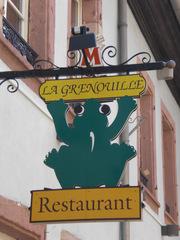Restaurant La Grenouille - Frankreich, civilisation, panneau, Schild, Restaurant, grenouille, Frosch, Ausleger, Werbung