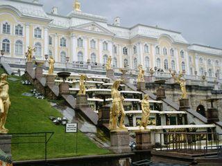 Peterhof - Palast - Peterhof, Museum, Russland, Sankt Petersburg, Landeskunde, Geschichte, Schloss, Palast, Gold, Zarenresidenz, Peter der Große