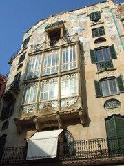 Jugendstil - Mallorca, Jugendstil, Spanien, Palma, Haus, Fenster, Balkon
