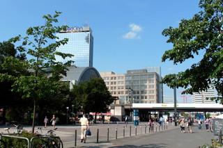 Berlin - Blick zum Alexanderplatz  - Berlin, Bahnhof Alexanderplatz, Hauptstadt