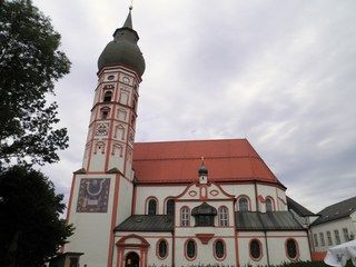 Klosterkirche Andechs - Kloster, Kirche, Religion, Wallfahrt, Klosterkirche, Bayern, Benediktiner, gotisch, Hallenkirche