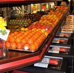 Marzipan #1 - Marzipan, Obst, süß, Apfelsinen, Äpfel, Bananen, Birnen, Marzipanbrot, Mandeln, Weihnachten, Touristenattraktion, Souvenir