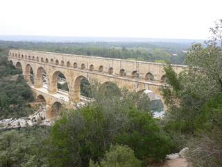 Pont du Gard - Frankreich, Südfrankreich, Pont du Gard, Aquädukt, Römer, Wasserversorgung, Brücke, Bögen, Architektur