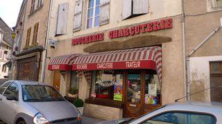 Boucherie  Charcuterie - Frankreich, civilisation, magasin, Geschäft, boucherie, charcuterie, Metzger, Fleischer, rôtisserie