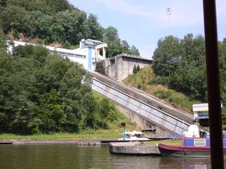 Schiffshebewerk St-Louis-Arzviller #2 - Schiffshebewerk, plan inliné, Frankreich, Elsass, Arzviller, schräg, Rhein-Marne-Kanal, schiefe Ebene