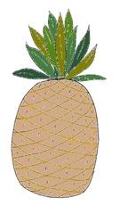 Ananas Zeichnung#1  - Ananas, Frucht, Bromeliengewächs, Obst, süß, Illustration, Zeichnung