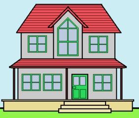 Villa - bunt - Gebäude, Haus, Villa, Ferienhaus, Wohnung, bunt