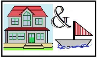 Rebus - Englisch - houseboat - Rebus, Bilderrätsel, picture quiz, Englisch