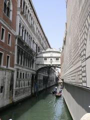 Venedig Seufzerbrücke#1 - Italien, Venedig, Venezia, Brücken, Seufzerbrücke, Ponte dei Sospiri, Kanal, Gondeln, Perspektive