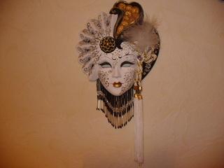Masken 1 - Venezianische Maske, Maske, Kunst, Bemalung, Ornamente, Federn, Schmuck, Karneval, Verkleidung, Wandschmuck, venezianisch, Venedig, Fasching, Dekoration