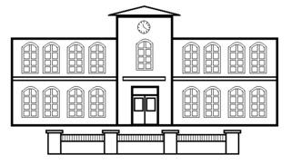 Schule - Gebäude, Schule, Lehrinstitut, Anlaut Sch