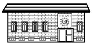 Polizeiwache - Gebäude, Stadt, Polizeiwache