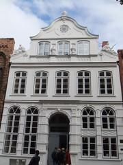 Buddenbrookhaus - Lübeck, Buddenbrookhaus, Buddenbrook, Mengstraße, Mann, Thomas Mann, Familie, Literatur, Sehenswürdigkeit, Kulturzentrum, Giebel, Front, Ansicht, Haus, Wohnung
