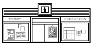 Touristeninformation - Gebäude, Stadt, Touristeninformation, Infostelle