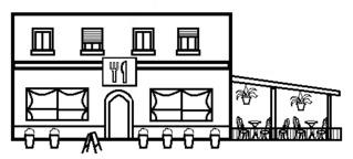 Restaurant - Gebäude, Stadt, Restaurant, Gaststätte, Essen und Trinken, Biergarten, Lokal, Gastronomie