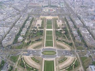 Paris Champ-de-Mars - Frankreich, Paris, Tour Eiffel, Eiffelturm, Cham-de-Mars, Marsfeld, parc, Park, école militaire