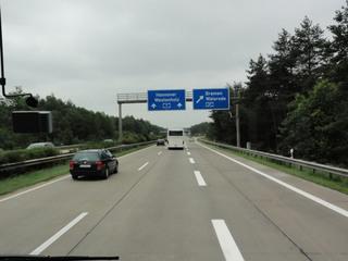 Autobahn2 - Autobahn, A7, A27, Hinweisschilder, Ausfahrt, blau, Autobahndreieck, dreispurig