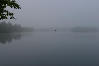 Morgennebel - Stille, Nebel, See, Schreibanlass, Ruhe, Meteorologie, Wetter, Wettererscheinung, Wassertröpfchen, Kondensation, Taupunkt, Wasserdampf