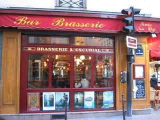 Brasserie - Brasserie, Paris, Frankreich, Lokal, Bierlokal, Ampel, Landeskunde Frankreich