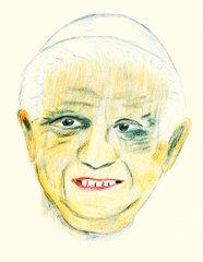 Berühmte Köpfe - Benedikt XVI - Papst, Kirche, katholisch, Oberhaupt, Religion, Nachfolger, Petrus, Rom, Vatikan