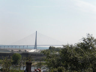 Pont de Normandie - Frankreich, civilisation, Normandie, Seine, pont, Brücke, Schrägseilbrücke, Le Havre, Honfleur