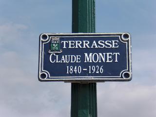 Étretat Terrasse Monet - Frankreich, civilisation, Schild, Straße, rue, panneau, terrasse, Claude Monet
