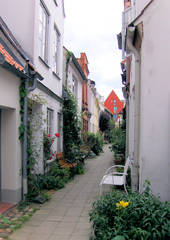 Lübeck, Gängeviertel #2 - Lübeck, Gänge, Gang, Gängeviertel, Straße, eng, schmal, malerisch, Mittelalter, Altstadt
