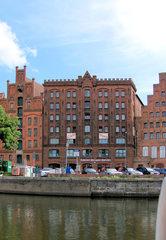 Lübeck Marzipanspeicher - Lübeck, Speicher, Marzipanspeicher, Marzipan, Mandeln, Speicherhaus, Lager, Lagerhaus, Backstein, Trave, Obertrave