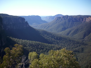 Blue Mountains - Berge, Gebirge, Dunst, Öle, Eukalyptus, Mountains, Luft, Natur, New South Wales