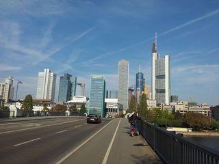 Skyline von Frankfurt am Main - Frankfurt/M, Frankfurt am Main, Hochhäuser, Bankenviertel, Finanzzentrum, Main