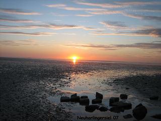 Sonnenuntergang - Natur, Sonne, Sonnenuntergang, Küste, Siel, Abendstimmung, Himmel, Abendrot, Horizont