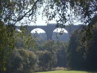 Elstertalbrücke#2 - Brücke, Eisenbahnbrücke, Ziegelsteinbrücke, Architektur, Elster, Bogenbrücke