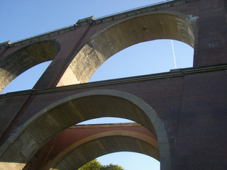 Elstertalbrücke#3 - Brücke, Eisenbahnbrücke, Ziegelsteinbrücke, Architektur, Elster, Bogenbrücke