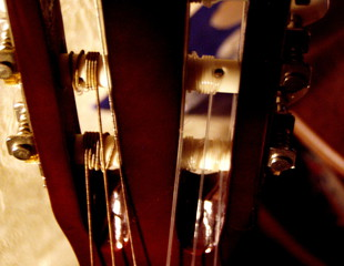 Gitarre-Rätselbild - Gitarre, Gitarrenkopf, Wirbel, Stimmmechanik, stimmen, Instrument, Saiten, Detail, Rätsel