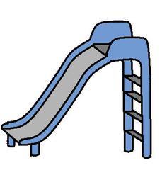 Rutsche - Rutsche, Spielplatz, Spielgerät, Anlaut r, Wörter mit sch, blau, rutschen, spielen, Spaß, Vergnügen