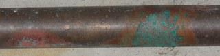 Kupferrohr - Kupfer, Kupferrohr, Metall, Edelmetall, Schwermetall, Rohstoff, Rohr, oxidieren, oxidiert, Oxidation, Grünspan, grün, kupfern, Patina, Chemie, chemischer Vorgang