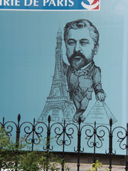 Gustave Eiffel - Frankreich, Paris, Gustave Eiffel, Eiffelturm, Tour Eiffel, Ingenieur, Karikatur