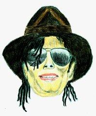 Berühmte Köpfe - Michael Jackson - Sänger, Komponist, schwarz, erfolgreich, bedeutend, Erfolg