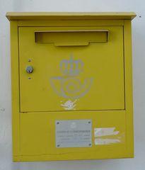 Spanischer Briefkasten - buzón #1 - Post, Brief, Briefkasten, buzón, correos, Gelb
