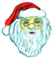 Berühmte Köpfe - Weihnachtsmann#1 - Weihnachten, Weihnachtsmann, Santa Claus, Kopf, rot, weiß, Bart, Rauschebart, Geschenke, schenken, Familienfest, Heiligabend, Brauchtum, Symbolfigur, Coca-Cola Company, Nordpol