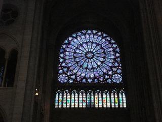 Rosettenfenster Notre Dame  - Paris, Notre Dame, Notre-Dame de Paris, Kirche, Sehenswürdigkeit, Rosette, Glasfenster, Gotik, gothique, rosace, rund, Kreis, Fenster, Fensterrose, Glaskunst, bunt