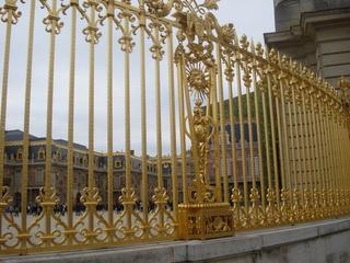 Goldenes Gitter Schloss Versailles  - Schloss, Versailles, Gold, golden, Sehenswürdigkeit, Sonnenkönig, Ludwig XIV., Paris, Ornament, Gitter