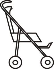 Buggy - Buggy, Transport, sportwagen, schieben, Kinderwagen, Kind, Anlaut B