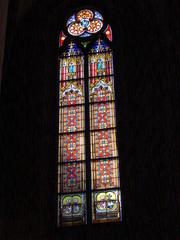 Oppenheimer Kirche #3 - Glaskunst, Kirchenfenster, Rosettfenster, bunt, Oppenheim, Kirche, Glasfenster, Glasscheiben, Bleiverglasung, Gotik, gotisch